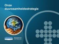 Overzicht van onze duurzaamheidsstrategie - Reduce Today ...