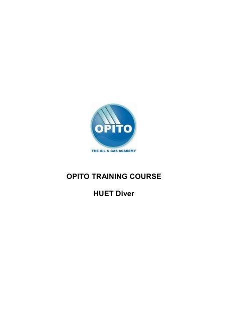 OPITO TRAINING COURSE HUET Diver