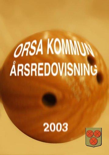 Årsredovisning 2003 - Orsa Kommun