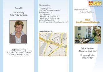 Hausleitung Frau Petra Seyfried ASB Pflegeheim - ASB Freiburg ...