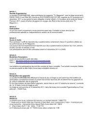 Article 1. Société Organisatrice La société ... - Pixel Farandole