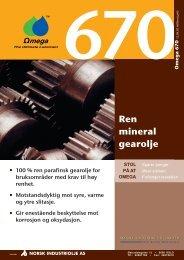 Produktinformasjon - Norsk Industriolje AS