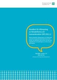 Handbok for foreskrifterna om leveranskvalitet EIFS 2011 2