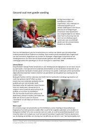 Gezond oud met goede voeding - Hogeschool Van Hall Larenstein.