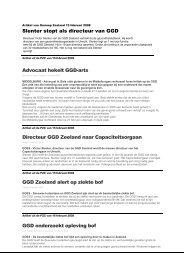 Slenter stopt als directeur van GGD Advocaat hekelt ... - GGD Zeeland