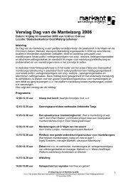 Verslag Dag van de Mantelzorg 2006 - Stadsdeel Oost - Gemeente ...