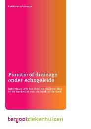 Punctie of drainage onder echogeleide [167kb] - Tergooi