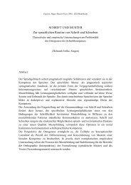 SCHRIFT UND MUSTER - Institut für Deutsche Sprache