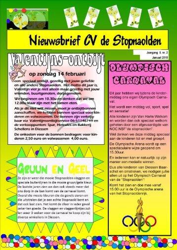 Nieuwsbrief januari 2010 Jaargang 8 -Nr.2 - De Stopnaolden