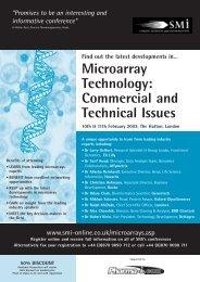 Microarray Technology - SMi Online