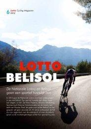 De Nationale Loterij en Belisol gaan een sportief huwelijk aan