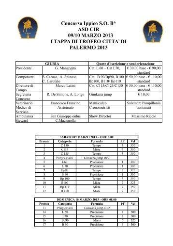 Concorso Ippico S.O. B* ASD CIR 09/10 MARZO 2013 I TAPPA III ...
