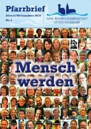Pfarrbrief Sommer 2010 - Pfarreiengemeinschaft Utting-Schondorf