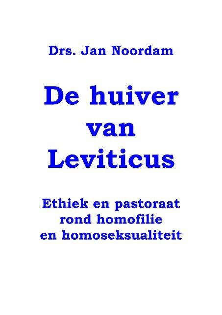 De huiver van Leviticus - RefoAnders