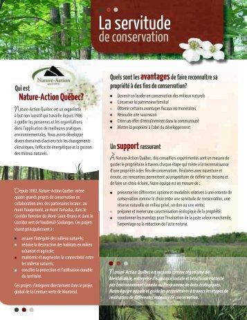 La servitude de conservation - Le Corridor Forestier du Mont-Saint ...