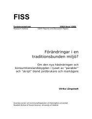 Notatet som pdf-fil - och kommunalhögskolan - Helsinki.fi