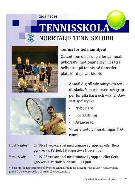 Informationsblad Norrtalje Tennisklubb