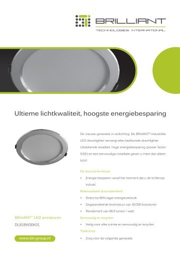 brilliant led groothandel bti voor alle led verlichting w