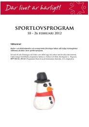 sportlovsprogram - Tingsryds kommun