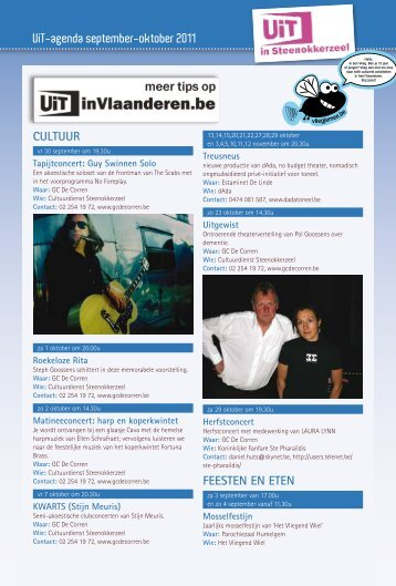 UiT-agenda september-oktober 2011 Cultuur FeeSten en eten
