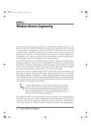 KAPITEL 2 Windows Reverse Engineering - beim O'Reilly Verlag
