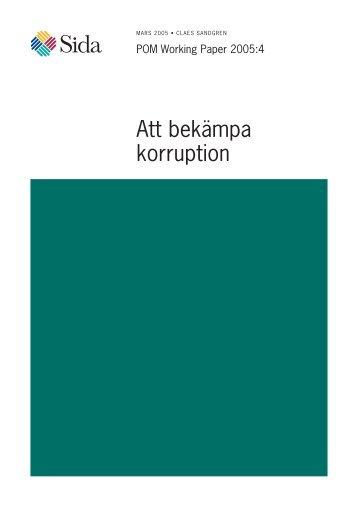 Att bekämpa korruption - Palmecenter