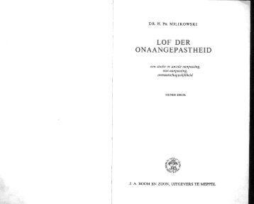 LOF DER ONAANGEPASTHElD - History of Social Work