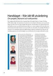 Handslaget - från idé till utvärdering (2007) - GIH