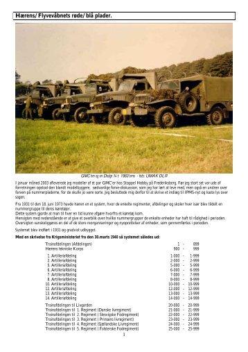 Hærens og flyvevåbnets røde og blå nummerplader