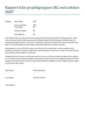 Rapport- sammarbete mellan IBL och RKKT - Institutet för ...