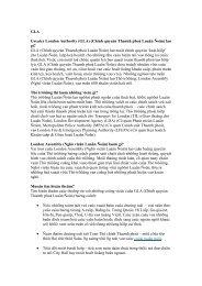 Greater London Authority - Vietnamese translation - LEGACY ...