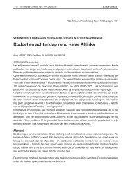 Roddel en achterklap rond valse Altinks - Johan Meijering