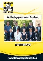 Verkiezingsprogramma Turnhout 14 OKTOBER 2012