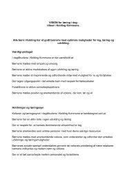VISION for læring i dag - Eltang Skole og Børnehave - Kolding ...