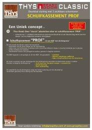 schuifkassement PROf - Group Thys