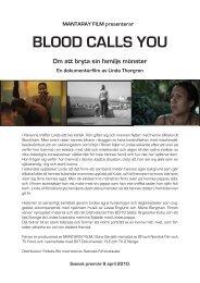 Pressmaterial Blood Calls You - Folkets bio