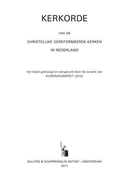 kerkorde 2006 - Christelijke Gereformeerde Kerken in Nederland