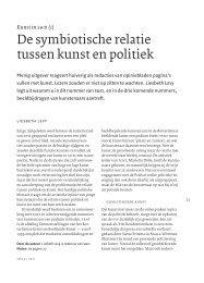 De symbiotische relatie tussen kunst en politiek - Jonas Staal