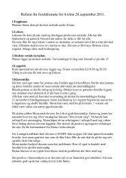 Referat fra foreldremøte for 4.trinn 28.september 2011. - Eigerøy skole