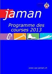 Programme des courses 2013 - Club Alpin Suisse Section Jaman