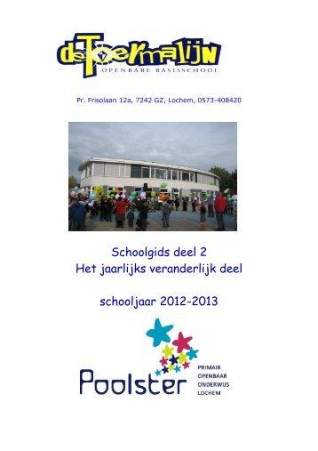 schoolgids 2012-2013 deel 2, jaarlijks veranderlijk deel - OBS De ...