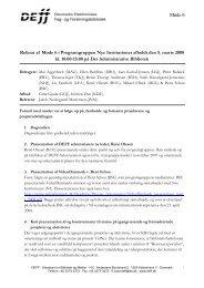 Referat af møde 6 i NI - DEFF