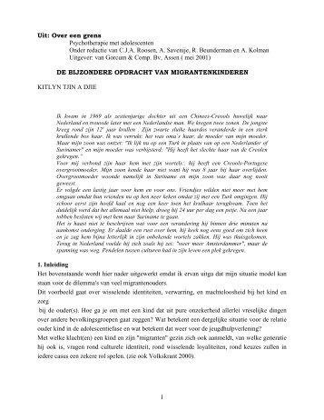 De bijzondere opdracht van migrantenkinderen - Beschermjassen