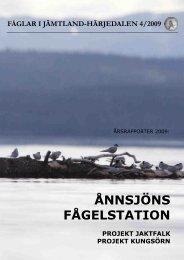 Årsrapport 2009 - Ånnsjöns fågelstation