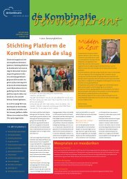 Bewonerskrant jaargang 14 nr. 40 - Woningbouwvereniging De ...