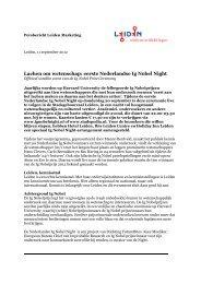 Persbericht Eerste Nederlandse Ig Nobel Night - Leiden