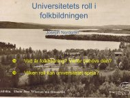 Universitetets roll i folkbildningen - Media4Us