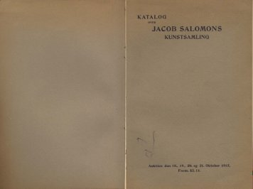 jacob salomons kunstsamling