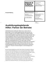Ausbildungsbegleitende Hilfen: Partner der Betriebe - Diakonisches ...