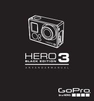 GoPro HERO3:Black Edition användarmanual